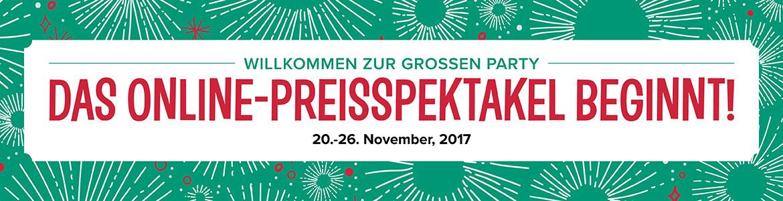 Online-Preisspektakel vom 20. bis 26. November
