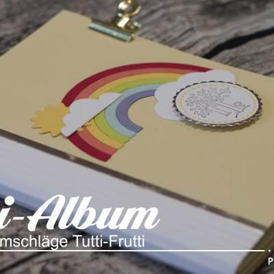 Mini-Album aus Karten und Umschlägen