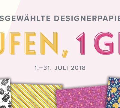 Designerpapier-Aktion im Juli 2018