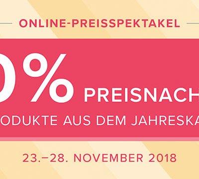 Online-Preisspektakel 23. – 28.11.2018