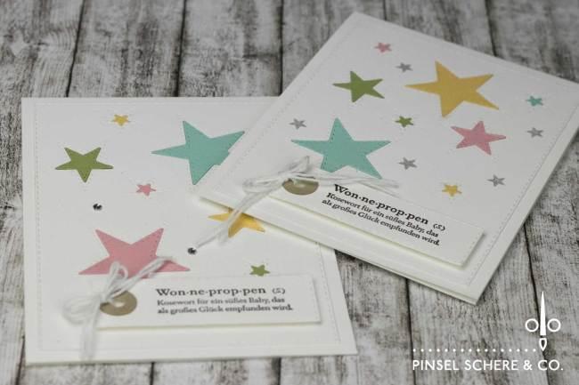 Unisex Babykarte Mit Sternenglanz