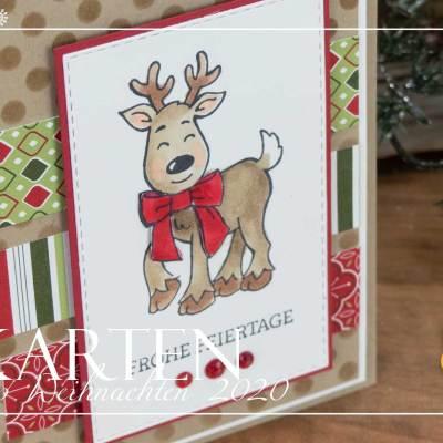 12 Karten bis Weihnachten #8 – Rudolph Rentier