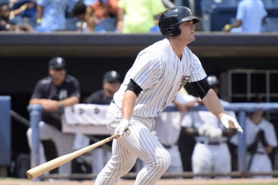 Ryan Krill accounted for 3 of the SI Yanks 9 hits (Robert M Pimpsner)