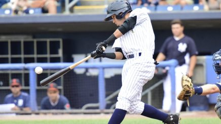 Shortstop Danienger Perez was 3-for-4 with 3 RBIs in the game Sunday (Robert M Pimpsner)