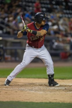 Gary Sanchez had four hits in Friday night's RailRiders loss.
