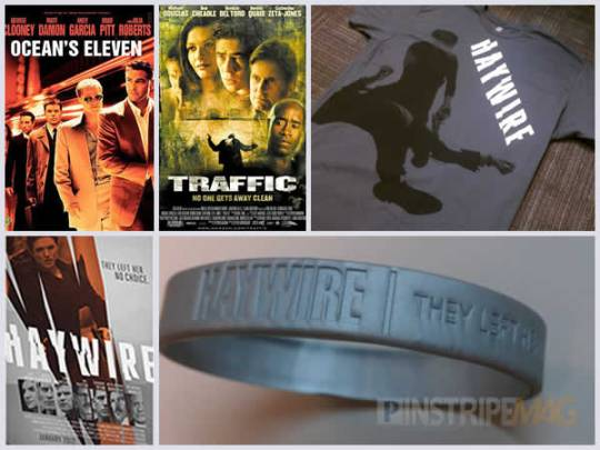 Ocean's Eleven and Traffic DVD, Haywire Shirt, Mini-poster and Rubber Bracelet, Soderbergh Prizepack