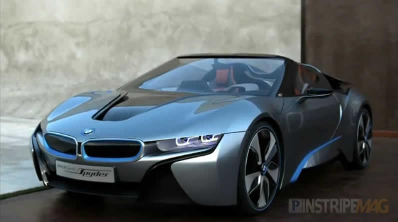 BMW i8 Concept Spyder stretches her legs