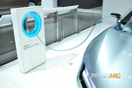 BMW i8 Concept Spyder, Charging Station, NY International Car Show 2012