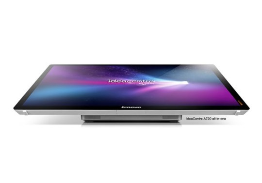 Lenovo IdeaCenter A720, an all-in-one 27-inch 10-point multitouch PC.