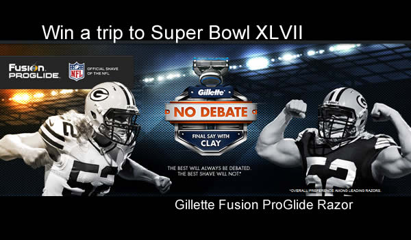 NFL Gillette No Debate Contest, Win tickets to Super Bowl XLVII