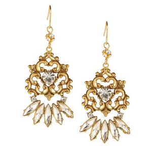 Tom Binns' 'Rokoco Dumont' earrings