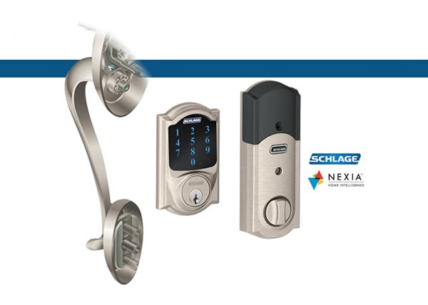 Schlage Camelot Touchscreen Deadbolt with Alarm and Nexia Home Intelligence