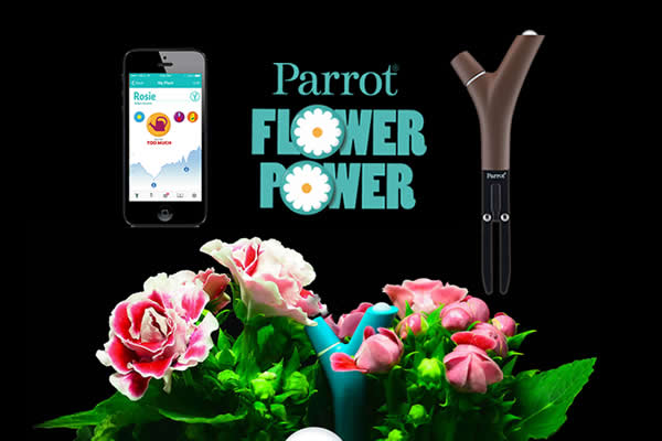 Flower Power Wireless Plant Monitor Sensor Technology by Parrot