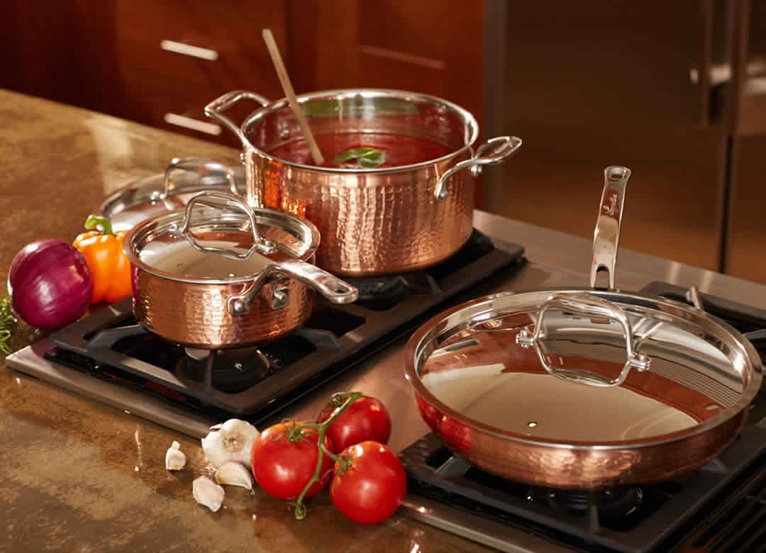 Lagostina Martellata Hammered Copper Cookware