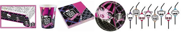 Platos_Vasos_Servilletas_Mantel_Pajitas_MonsterHigh_PintandoUnaMama