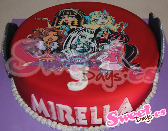 Tarta_Monster_High_Impresion_sweetdays_PintandoUnaMama