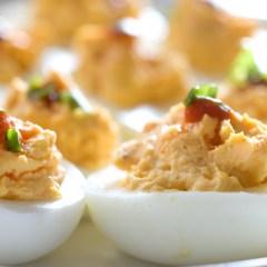 Huevos Especiales Rellenos de Atún con Mayonesa