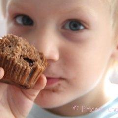 Magdalenas de Chocolate rellenas de Chocolate