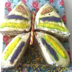 Tarta Carrot Cake en Forma de Mariposa