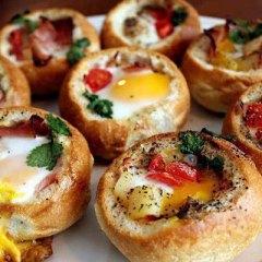 Panecillos Rellenos con Huevo y Verduras