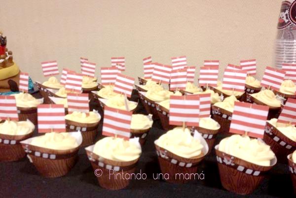 Fiesta_Pirata_Cupcakes_Wrappers_Barco_PintandoUnaMama