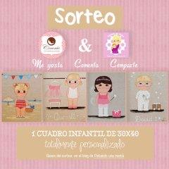 Sorteo Cuadro Personalizado Infantil Coconic con Pintando Una Mamá