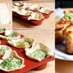 Tartaletas Fáciles con Espinacas a la Crema
