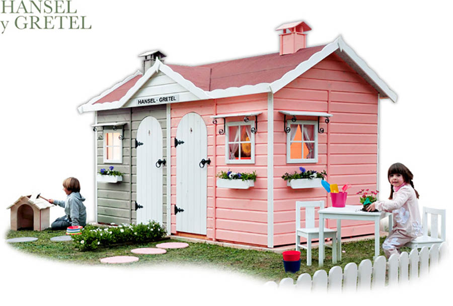 Casitas de madera para ni os green house pintando una - Casas de madera balcan house ...