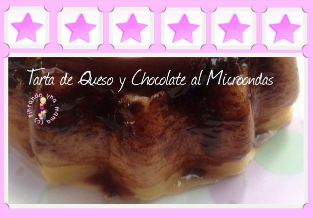 Tarta_de_Queso_y_Chocolate_al_Microondas_PintandoUnaMama