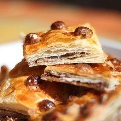 Tarta facilísima de Hojaldre con Nutella y Almendras
