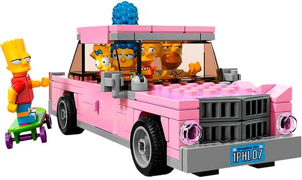 LEGO_Coche_Juguete_de_Los_Simpsons_PintandoUnaMama