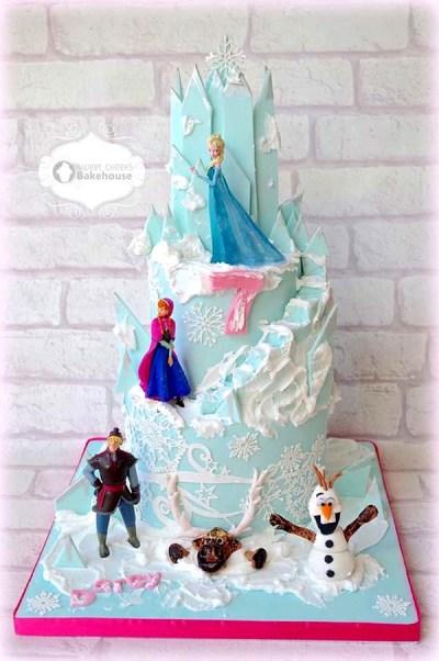 Tarta_Elsa_y_Ana_Frozen_PintandoUnaMama