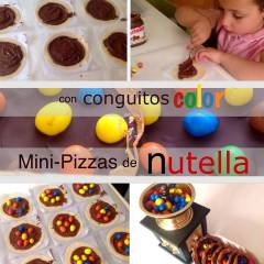 Mini Pizzas de Chocolate