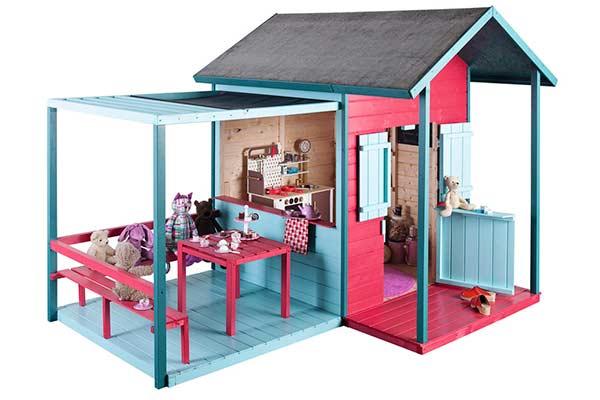 Casas de madera para ni os pintando una mam pintando for Casas para jardin baratas