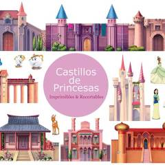 10 Castillos de Princesas Recortables para Imprimir y Jugar