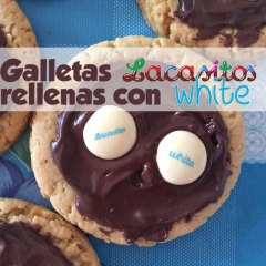 Galletas con Lacasitos de Chocolate Blanco