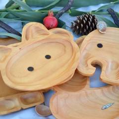 Vajillas de Madera Originales para Niños y Juguetes de Mamá Madera