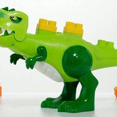 Dinosaurio Articulado con Sonidos y Piezas de Construcción Molto Blocks