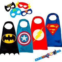 Capas y Antifaces para Disfraz de SuperHéroe y SuperHeroínas