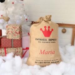 Sacos de Navidad Personalizados de Reyes Magos y Papá Noel