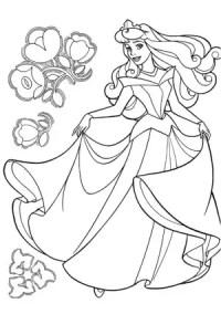 Princesa Aurora para colorear, imprimir y pintar