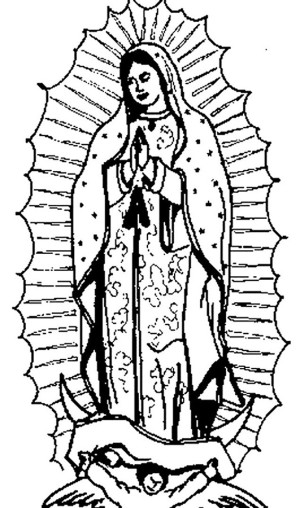 Virgen De Guadalupe Para Colorear E Imprimir