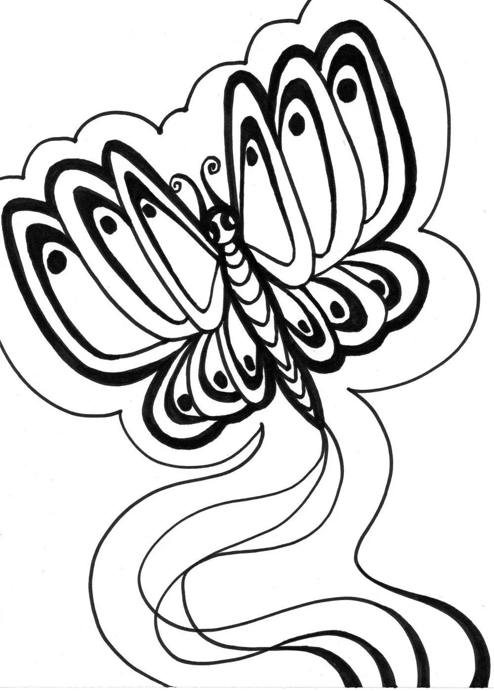 Dibujos Para Colorear Mariposas Mariposa Monarca Para