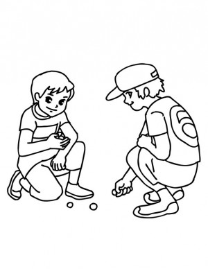 Dibujo de niña para colorear