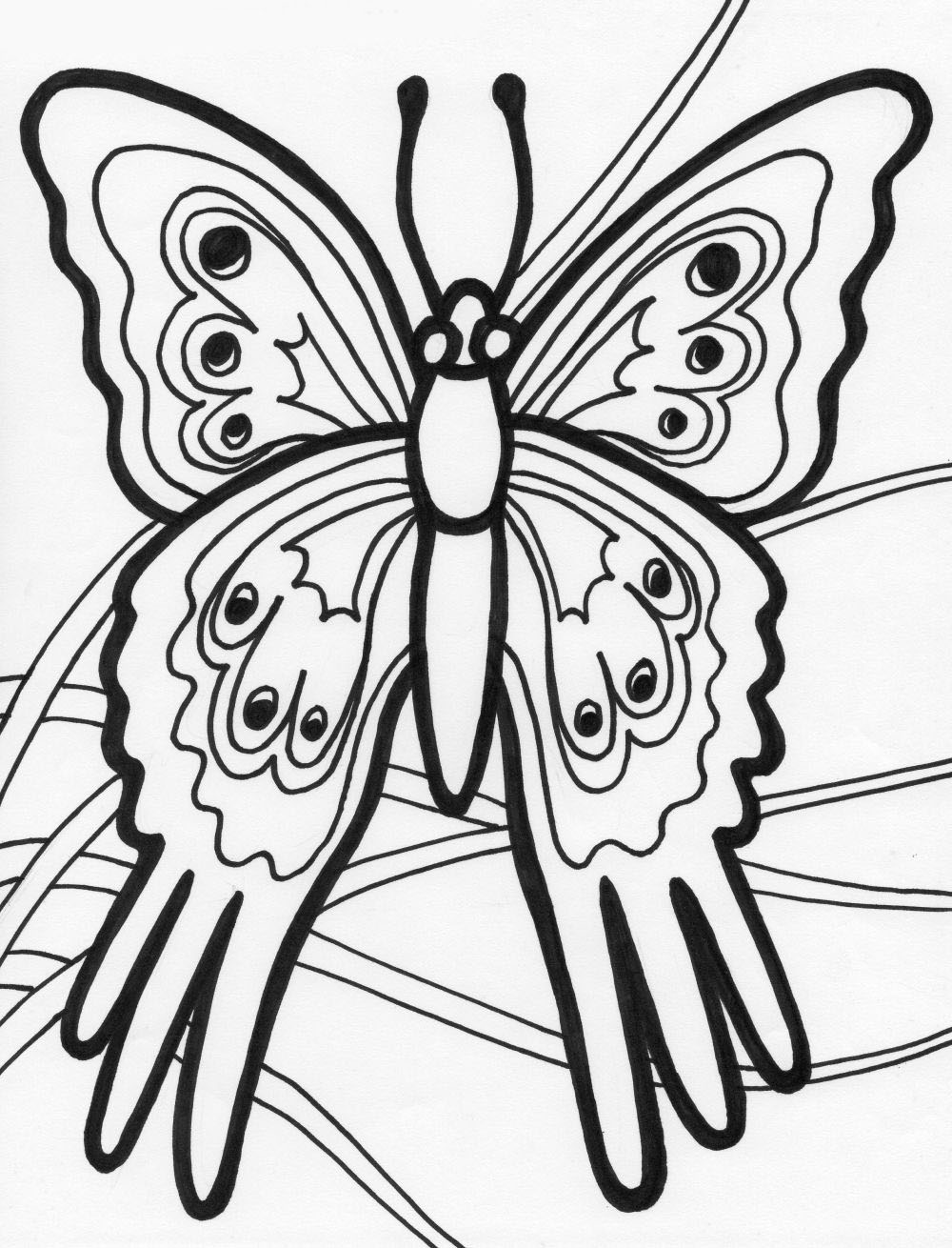 Mariposas para colorear pintar e imprimir