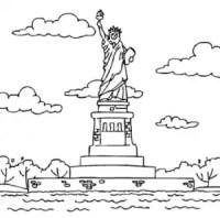 Dibujo De Estatua De La Libertad Para Colorear