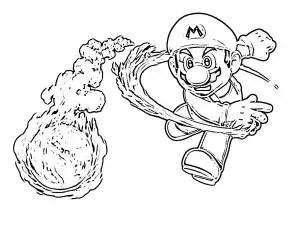 Mario Bros para colorear, pintar e imprimir