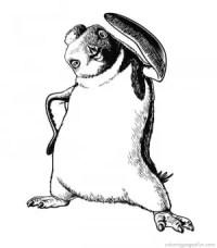 Pinguino para colorear, pintar e imprimir