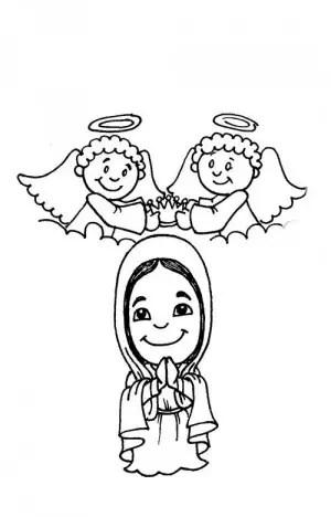 Virgen Maria Para Colorear Pintar E Imprimir
