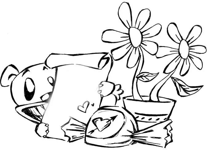 Dibujos Infantiles De Amor Para Colorear Cupidos Para